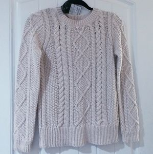 Massimo Dutti Cable Knit Sweater S BN